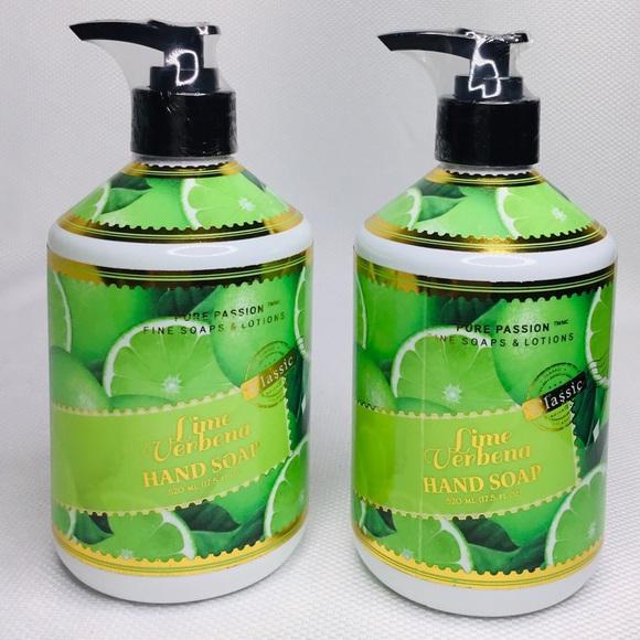 2 Pure Passion Fine Lime Verbena Hand Soap 17.5 oz